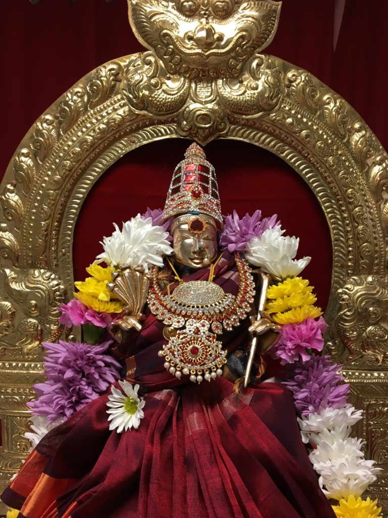 Lalitha Devi Abhishekam, Lalita Sahasranama Parayanam, Kumkuma Archana, Harati.